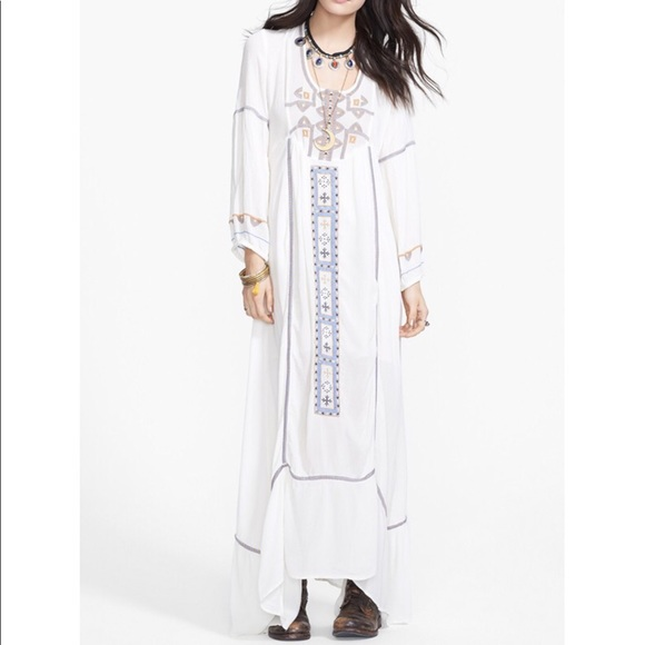 5972f1b9a983 Free People Dresses & Skirts - Free People Desert Wind Embroidered Maxi  Dress